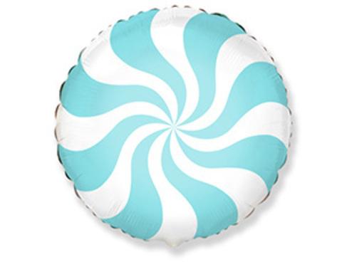 Фольгированный шар Леденец голубой пастель