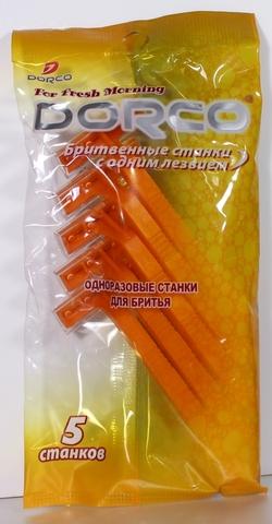 Dorco SD-503 Одноразовые станки для бритья с 1 лезвиями 5шт.