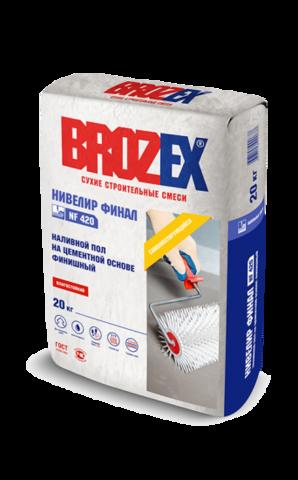 Наливной пол Brozex Нивелир финал NF 420 20 кг