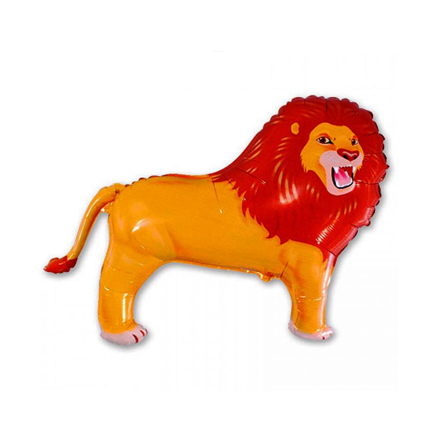 Фольгированный шар «Лев», 84см