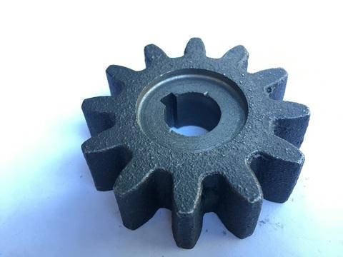 Шестерня привода барабана бетономешалки: вал 17 мм; Z-12; высота зуба 20 мм