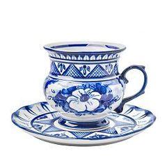 Чайная пара Голубка авт.роспись