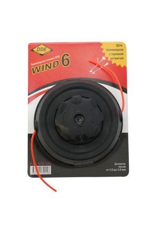 Головка триммерная серия WIND DDE Wind  6 безразборная смена корда (М10х1,25 мм левая,+ада (640-148)
