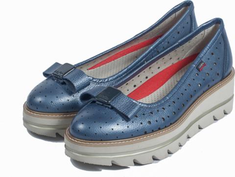 14803 NATURAL METALIC AZUL туфли женские  CallagHan