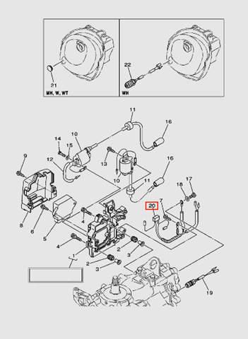 Провод заземления для лодочного мотора T40 Sea-PRO (9-20)