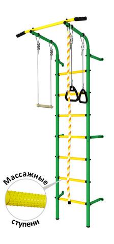 Шведская стенка аналог Next1 эконом (dsk с массажными ступенями) зеленый