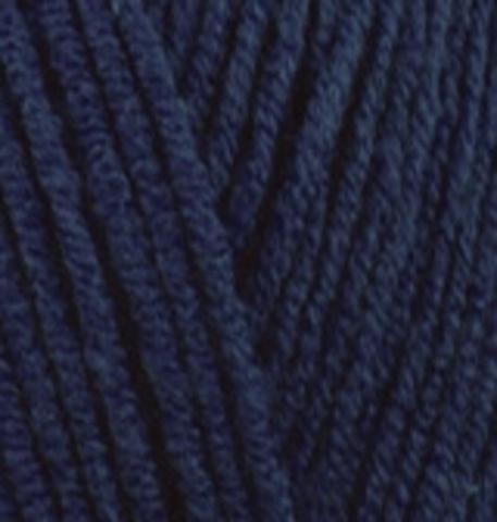 Пряжа Lanacoton Alize 58 темно-синий, фото