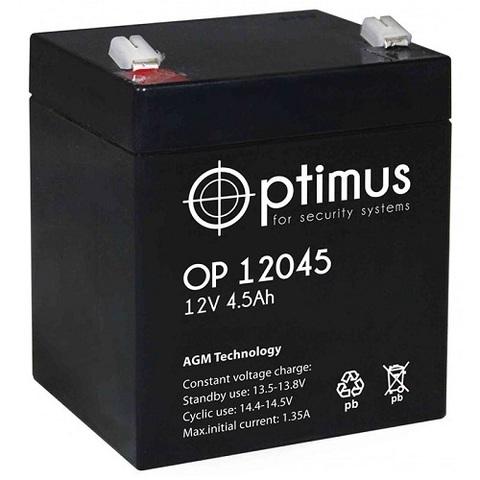 OP 12045 аккумулятор 12В/4,5Ач Optimus