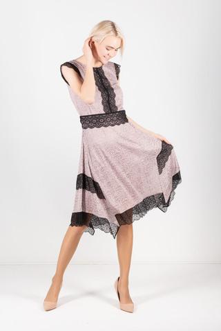 Фото романтичное кремовое платье с кружевом - Платье З428а-281 (1)