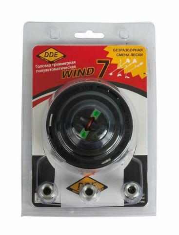 Головка триммерная серия WIND DDE Wind  7 безразборная смена корда (М8х1,25мм прав, +3/8