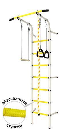 Шведская стенка аналог Next1 эконом (dsk с массажными ступенями) белый