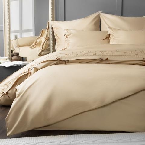 Комплект постельного белья сатин Лили бежевый