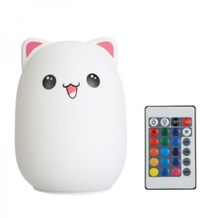 Мягкий силиконовый ночник Котик Cute Cat led лампа