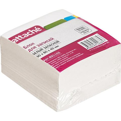 Блок для записей Attache 80x80x40 мм белый (плотность 65 г/кв.м)