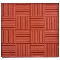 Тротуарная плитка 300х300мм Паркет красная