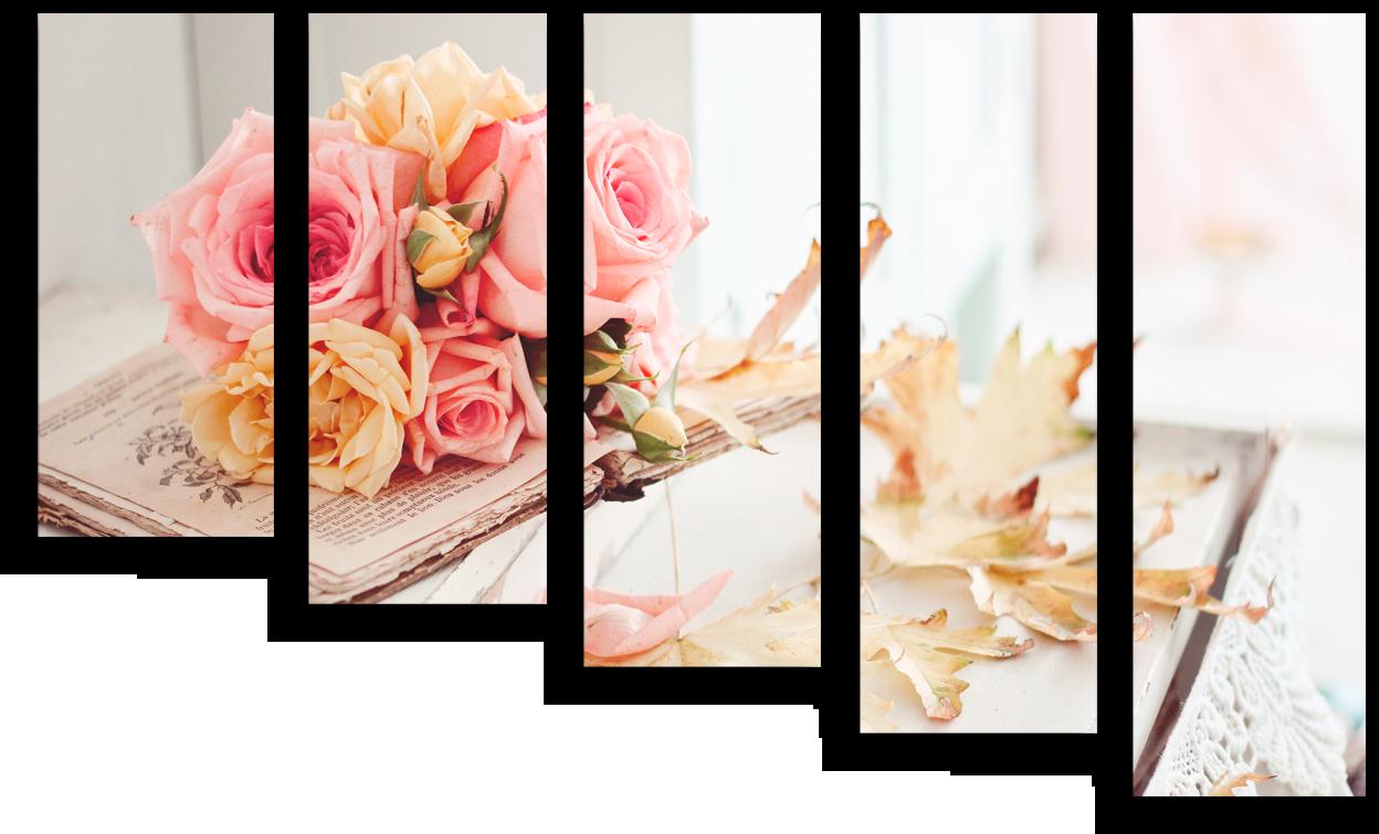 """Цветы Модульная картина """"Чарующие розы"""" М706.png"""