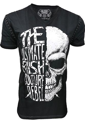Футболка Rebel Skull Rush Couture. Made in USA