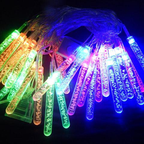 LED светодиодная новогодняя гирлянда тающая сосулька