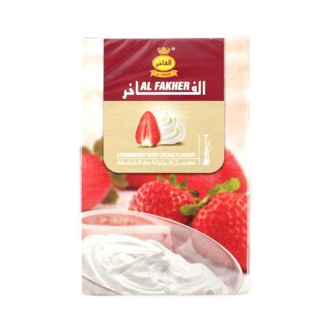 Табак для кальяна Al Fakher Strawberry with Cream 50 гр