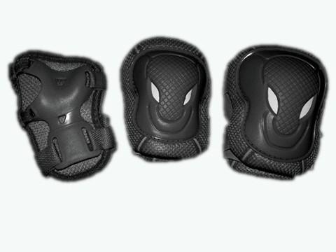 Защита роликовая. В наборе: 2 защиты колена, 2 защиты локтя, 2 защиты кисти. Размер S. :(WXR-S):