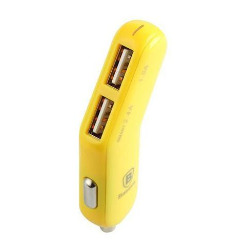Автомобильная зарядка Baseus smart-thin series car charger /yellow/