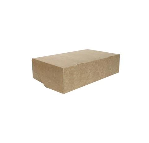 Коробка для сладостей без окна, 230*140*60 мм, двусторонняя белая\крафт