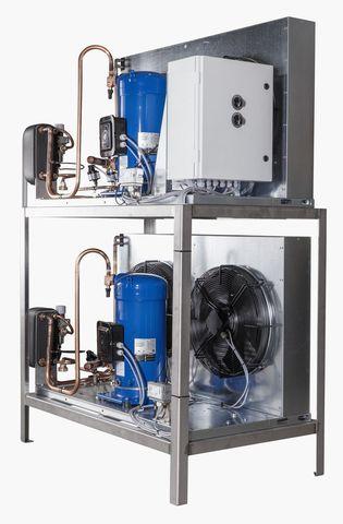 9000 литров   Агрегат для танка охладителя молока на отдельной раме