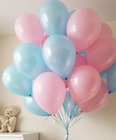 Воздушные шары с гелием Розово-голубые