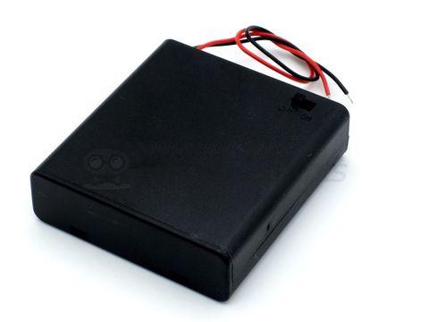 Отсек для батареек 4хАА с крышкой без штекера
