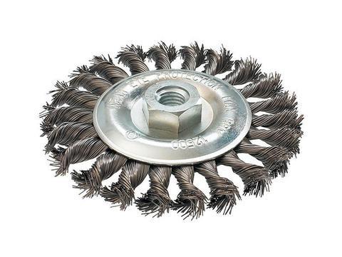 Кордщетка для МШУ радиальная витая ПРАКТИКА 125 мм, М14 (242-656)