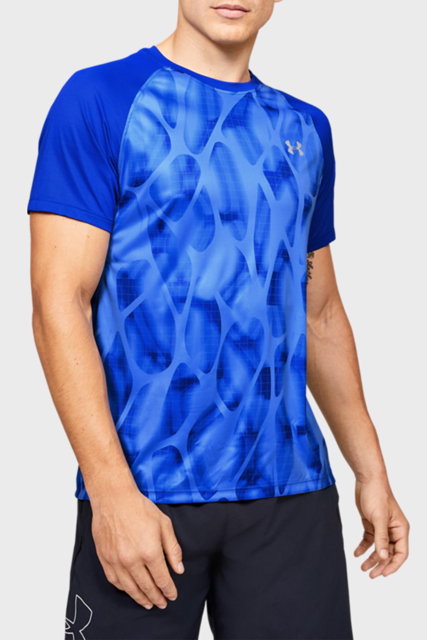 Мужская синяя спортивная футболка UA M Qualifier ISO Under Armour