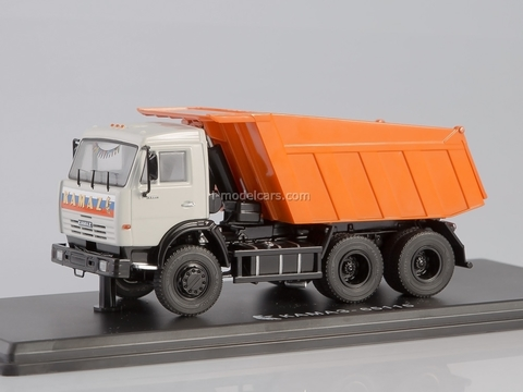 KAMAZ-65115 tipper white-orange 1:43 Start Scale Models (SSM)