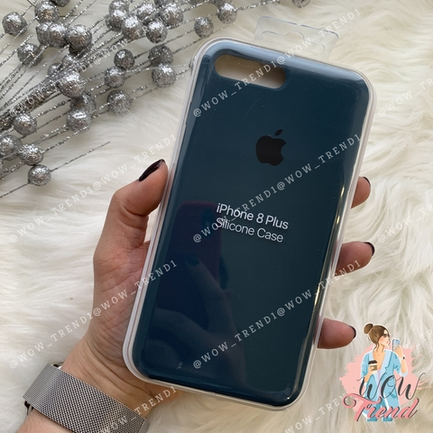 Чехол iPhone 7+/8+ Silicone Case /cosmos blue/ космос 1:1