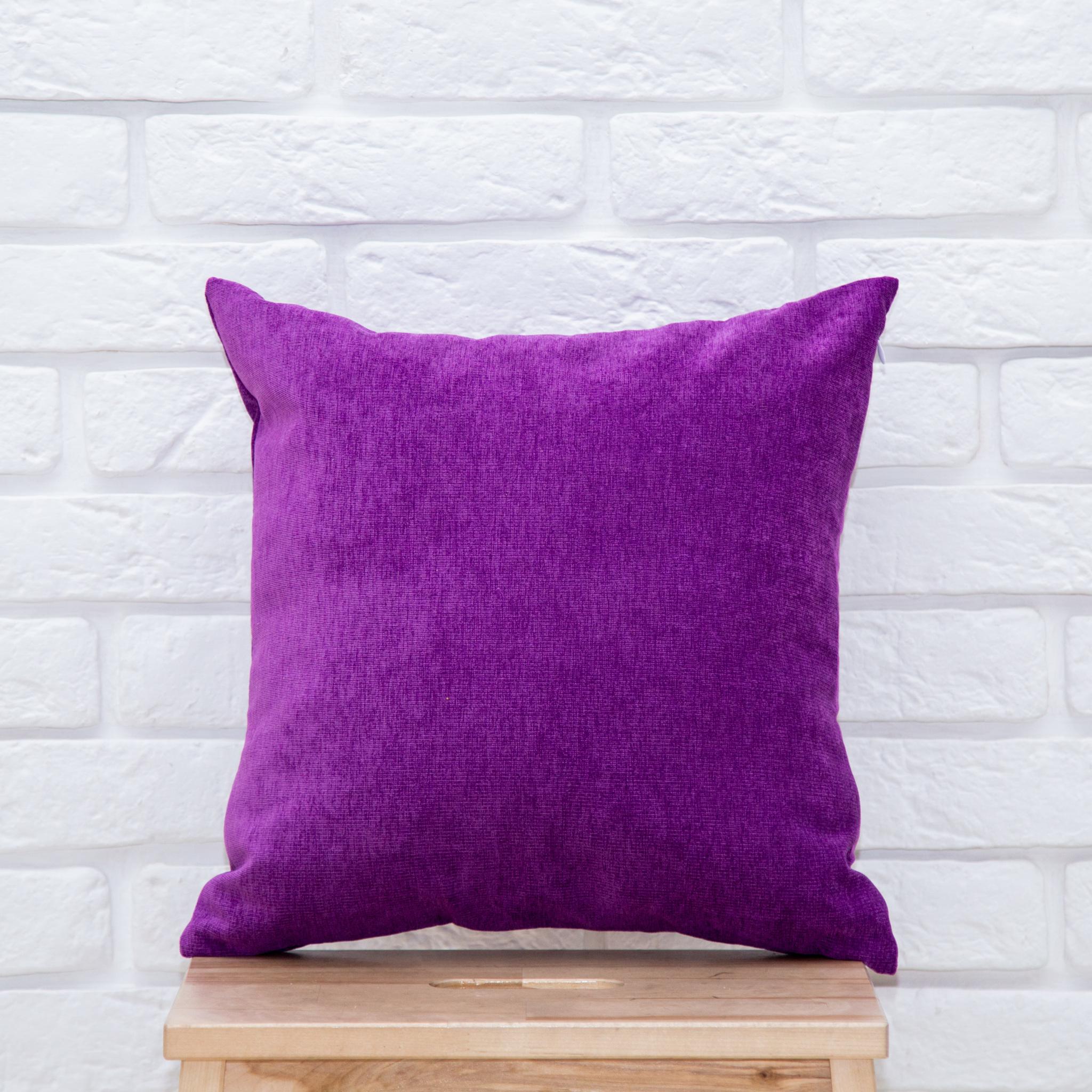 Подушка 40*40 микровельвет (фиолетовая)