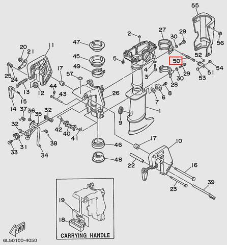 Винт фиксации дейдвуда  для лодочного мотора T3S SEA-PRO (15-50)