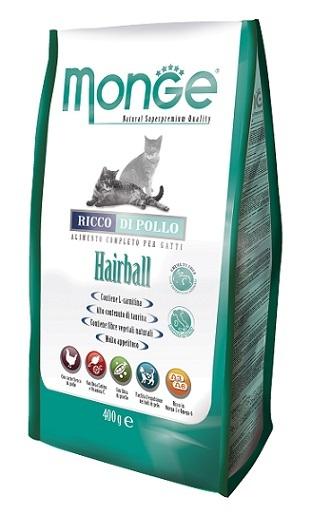 Купить Monge Cat Hairball корм для кошек для выведения шерсти 10 кг