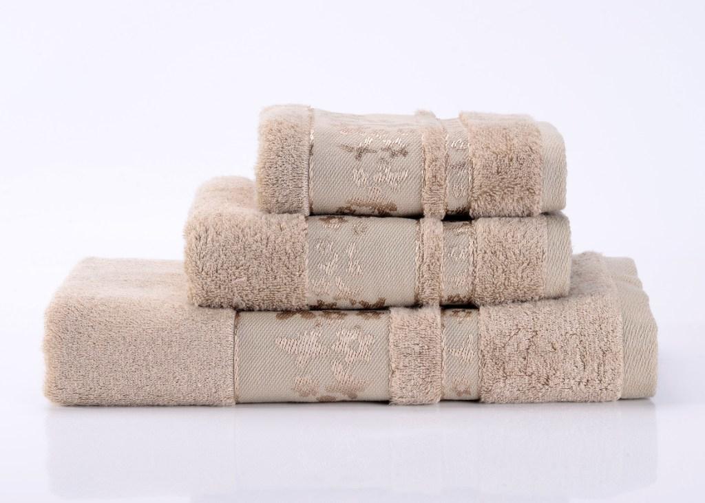 Полотенца Emily-5  бежевое махровое  полотенце Valtery emily-5-polotentse-bannoe.jpg