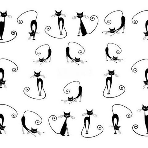 Наклейки для ногтей кошки
