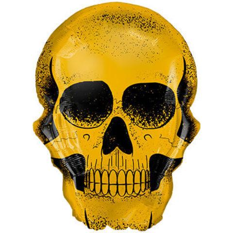Фигура фольга Череп золотой