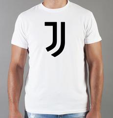 Футболка с принтом FC Juventus (ФК Ювентус) белая 007