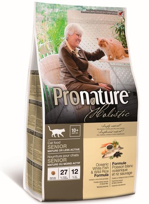 Pronature Облегченный корм для взрослых и пожилых кошек, Pronature Holistic, с океанической белой рыбой и диким рисом 102.2025.jpg