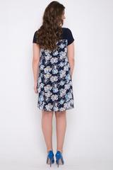 """<p>Превосходная модель: платье-двойка. Основное платье трикотажное, по линии груди притачной шифон """"имитация туники"""". Модель очень выгодно скрывает все изъяны фигуры. В этом платье Вы будете выглядеть просто роскошно!!! Длина по спинке: 48р.=94см; 50р.=96см; 52р=98см; 54р.=101см;</p>"""