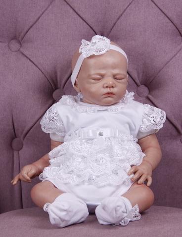 Нарядный костюм на девочку Barbie белый