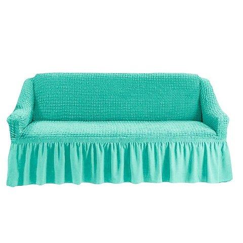 Чехол на трехместный диван, бирюзовый