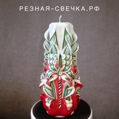 Резная свеча Новогодний каприз 17 см