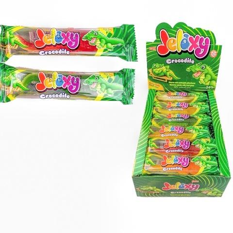 Jelaxy Crocodile (24х6) Жевательный мармелад с фруктовым соком Крокодил 1кор*6бл*24шт