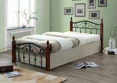 """Кровать """"Мабел (Mabel) MK-5238-RO"""" (решетка металлическая), 120x200 см —  Темная вишня"""