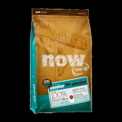 Now Fresh Holistic Senior Сухой корм для пожилых собак крупных пород контроль веса с индейкой, уткой и овощами беззерновой