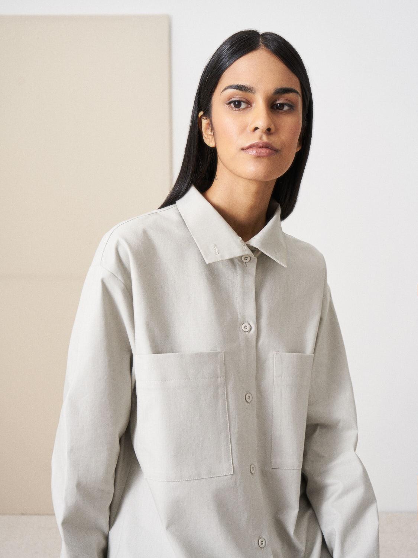 Рубашка Gia с высокой стойкой, Серый