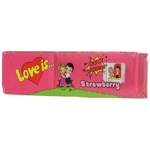 Жевательные конфеты Love Is - новые вкладыши, любимые вкусы (клубника)
